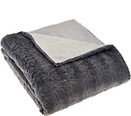 Dennis Basso Madison Ave. 50x60 Faux Fur and Micromink Throw - H206584