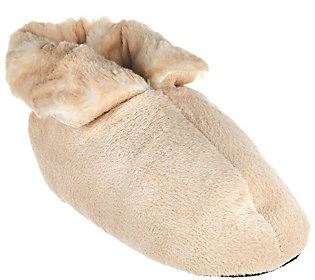 664013202235. Dennis Basso Signature Faux Fur Slipper Booties ff21a1044