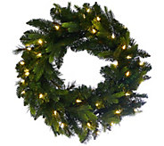 Bethlehem Lights 24 Mixed Green Prelit Holiday Wreath - H208784