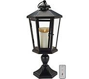 Luminara 19 Windsor Lantern with Pedestal & Flameless Candle - H210884