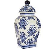 12 Illuminated Square Damask Porcelain Urn by Valerie - H211684