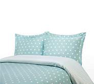 100Cotton Polka Dot Print Twin Duvet Cover and Shams Set - H285784
