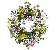 20 Dogwood Wreath by Nearly Natural - H295584