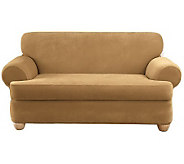 Sure Fit Stretch Pique 3-Piece T-Cushion Sofa Slipcover - H349984