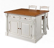 Home Styles Monarch Kitchen Island with Two Stools - H353884