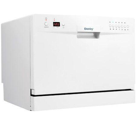 Danby Countertop Dishwasher Faucet Adapter : Danby Countertop Electronic Dishwasher - White ? QVC.com
