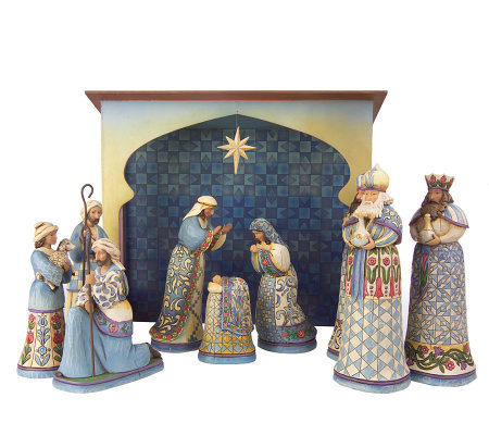 Jim Shore Heartwood Creek 10 Piece Set Nativity Scene