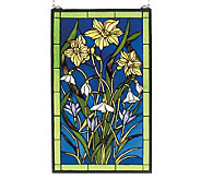 Tiffany Style Spring Bouquet Window Panel - H123485