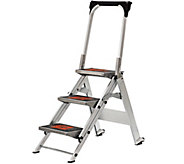 Little Giant Safety 3-Step Ladder No Rating 300-lb Capacity - H139285