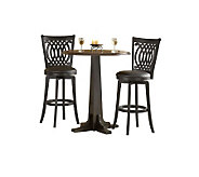 Hillsdale Furniture Dynamic Designs 3-Pc Pub Set-Brown/Black - H159385