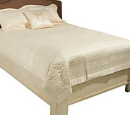Bob Mackie Home Legacy Full 4-Piece Matte Satin Coverlet Set - H202485