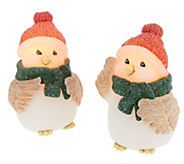 S/2 Candle Impressions Snowy Friends Flameless Candles w/Timer - H203085