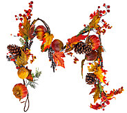 6 Pumpkin and Pomegranate Fall Foliage Garland - H203385