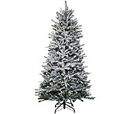Santas Best 7.5 Snow Flurry Tree with 7 Function LED Lights - H205685