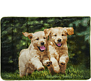 Luxe Velour Oversized 60 x 80 Cozy Animal Throw - H206585