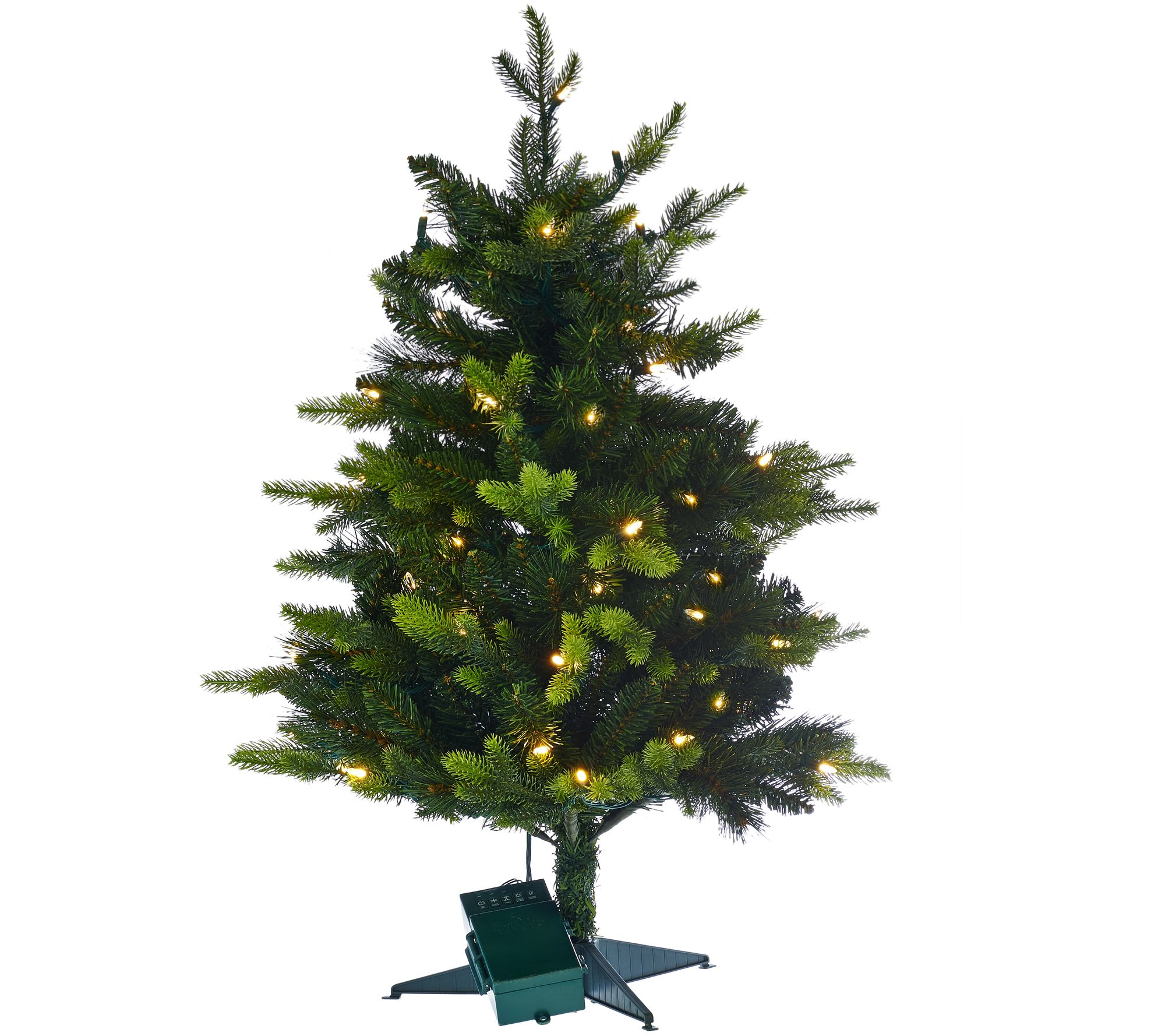 "Stake Christmas Trees: Bethlehem Lights 30"" Mixed Greens Prelit Holiday Stake"