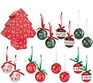 As Is Temp-tations 14 piece Decoupage Ornament Set - H210485