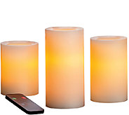 Candle Impressions S/3 Graduated Flameless Candles w/ Remote - H286385