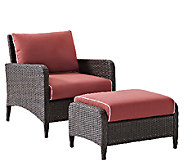 Crosley Kiawah 2 Piece Wicker Seating Set withCushions - H286685
