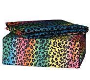 Veratex Rainbow Leopard Twin Sheet Set - H351985