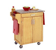 Home Styles Cuisine Cart Natural Finish with Grite Top - H127286