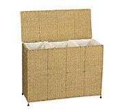 Household Essentials Seagrass Triple Sorter - H142586