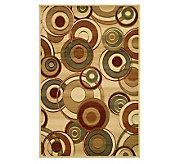 Lyndhurst 79 x 109 Modern Circles Power Loomed Rug - H181186