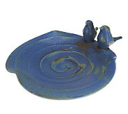 Ballymorris Pottery Bird Feeder/ Bath w/ Bird Accents - H198786