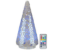 12 Mosaic Pearl Tree w/ Multi-Function Light & Remote by Valerie - H205286