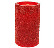 8.5 Bethlehem Lights Glitter Beaded Aqua Flame Fountain &FlamelessCandl - H205386