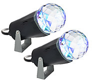 Set of 2 Indoor Outdoor Kaleidoscope LED Lightshow Projectors - H205486