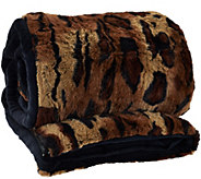 Dennis Basso 31x70 Snuggly Luxe Faux Fur & Velboa Sleeping Bag - H206586