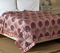 Northern Nights Laurel 300TC Cotton 650FP Reversible Twin Down Blanket - H207586