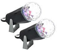 As Is Set of 2 Indoor Outdoor LED Kaleidoscope Projectors - H207686