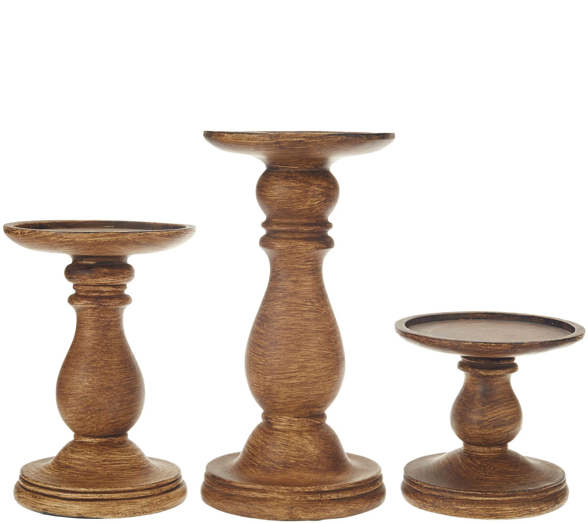set of 3 graduated candle holder pedestals by valerie page 1