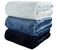 Berkshire Set of 3 Velvet Soft 50x70 Gradient Color Throws - H208986