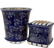 Temp-tations Floral Lace Tissue and Trashcan Set - H209086
