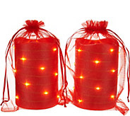 Lightscapes (2) 5 Glitter Swirl Light Flameless Candles w/ Bags - H209586
