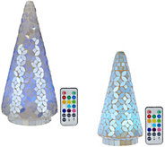 Choice of 8 or 12Mosaic Pearl Tree w/ Multi Function Light By Valerie - H210786