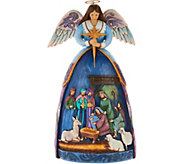 Jim Shore Heartwood Creek Angel with Nativity Figurine - H212886