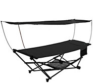 Bliss Hammocks Stow EZ Hammock with Canopy andStorage Bag - H291286