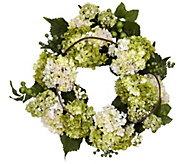 22 White Hydrangea Wreath by NearlyNatural - H295586