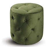 Avenue Six Curves Tufted Round Ottoman - SpringGreen - H175787