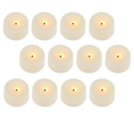 Candle Impressions S/12 Flameless Tealights with Timers