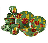 Temp-tations Poppy Passion 16-piece Dinnerware Service for 4 - H198987