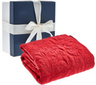 "50""x70"" Velvety Quilted Throw with Gift Box by Valerie"