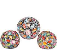 Set of 3 Kaleidoscope Gem Spheres by Valerie - H207987
