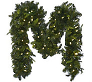 Bethlehem Lights 9 Mixed Greens Prelit Holiday Garland - H208787