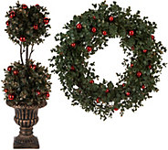 Choice of Boxwood Wreath or Topiary by Valerie - H212787
