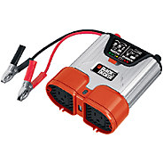 Black and Decker 500-Watt Power Inverter w/ 2 AC Outlets & USB - H286587